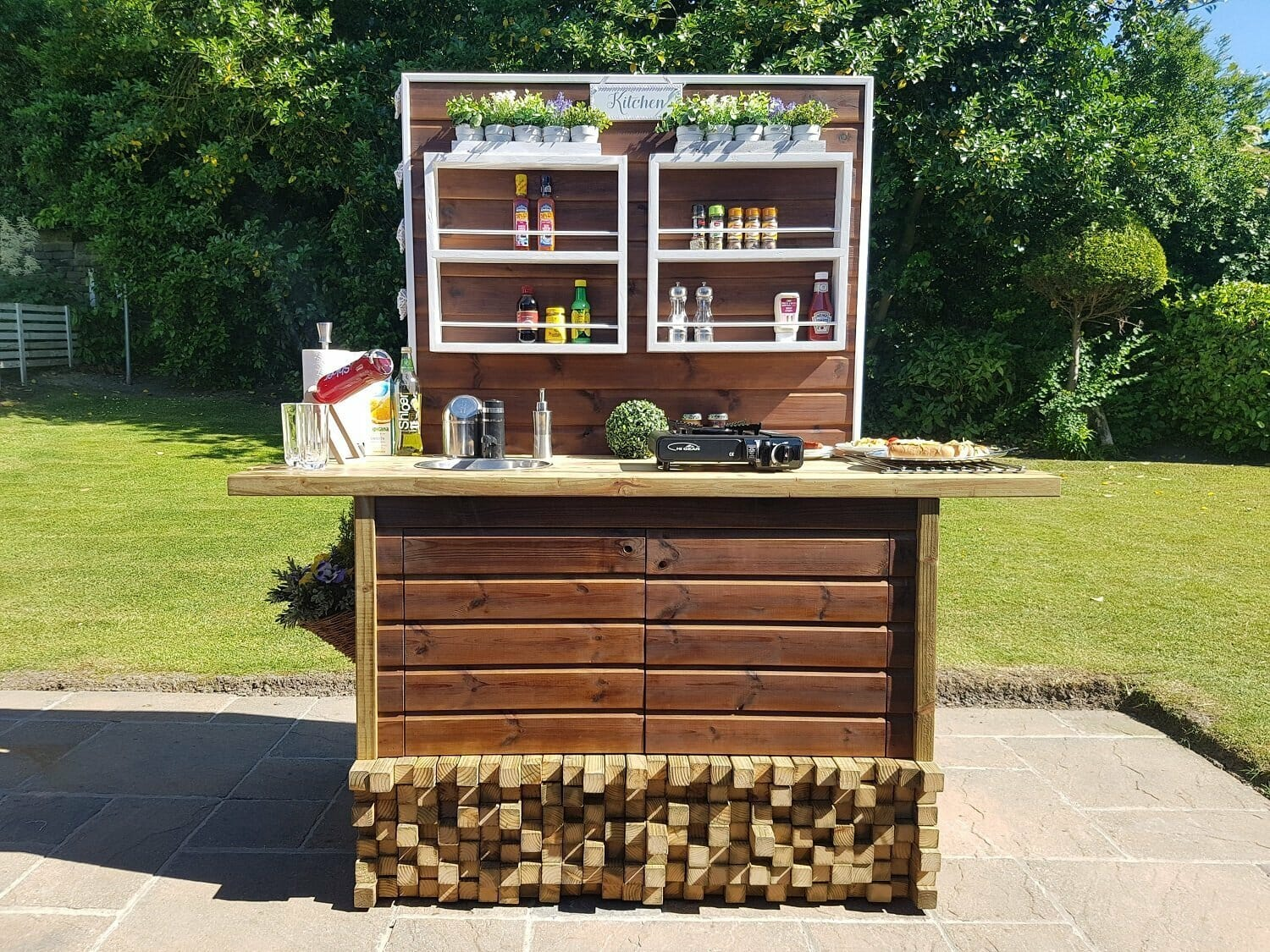 Outdoor Kitchen -- create your own with Gorilla Glue